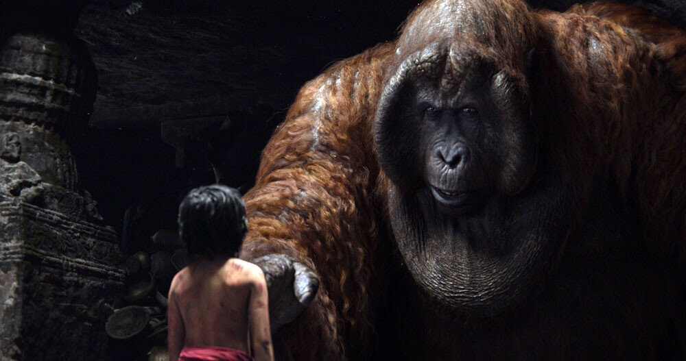 THE JUNGLE BOOK - (Pictured) MOWGLI and KING LOUIE ?2015 Disney Enterprises, Inc. All Rights Reserved.
