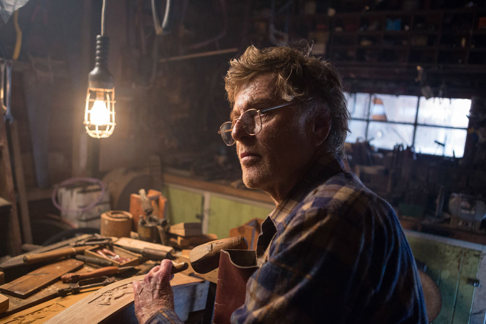 Robert Redford is Mr. Meacham in Disney's PETE'S DRAGON, the adventures of a boy named Pete and his best friend Elliot, who just happens to be a dragon.