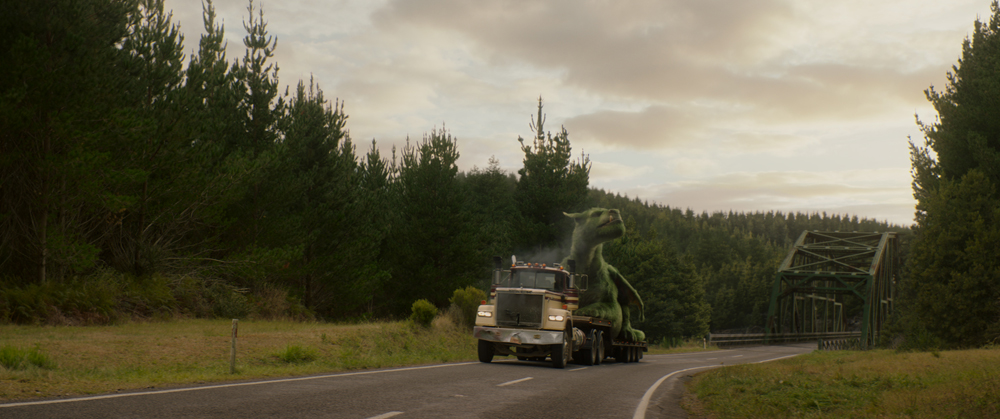 Elliot in Disney's PETE'S DRAGON, the story of a boy named Pete and his best friend Elliot, who just happens to be a dragon.