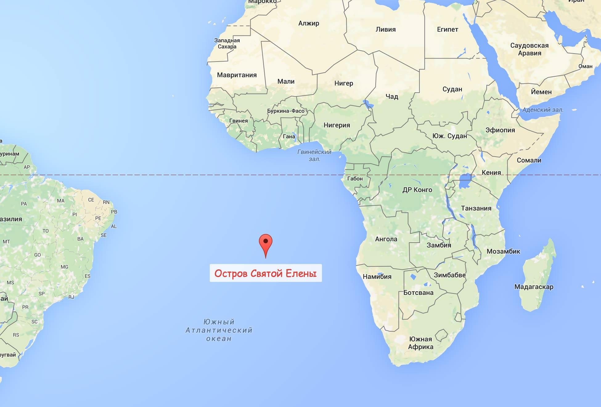 Остров святой елены где находится