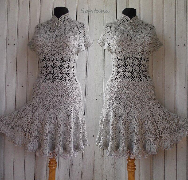 Серое платье. Коллаж 5