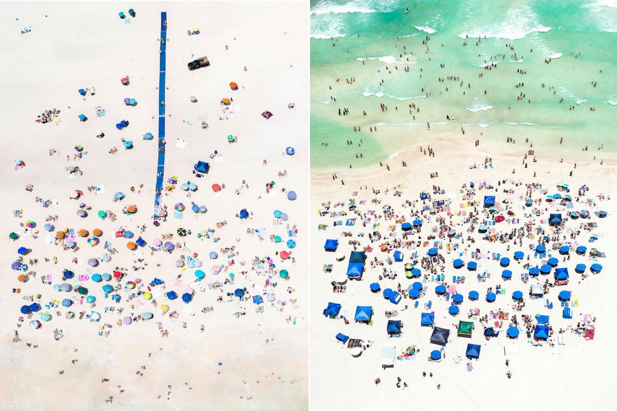 Пляжи США, вид сверху