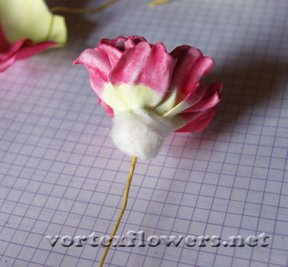 пионовидная роза из фома мк