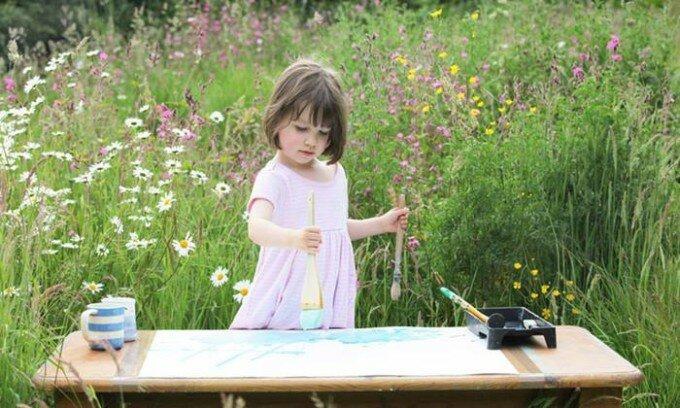 Необычные картины 5 летней девочки, больной аутизмом (фото)