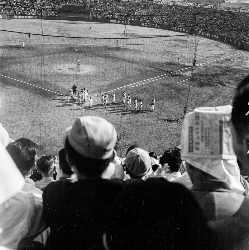 New York Yankees in Japan  vs Japan's Central Pacific All Star Team in Sendai 1955 - 9 of 10