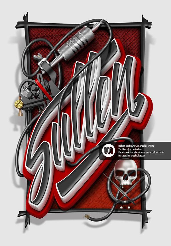 Дизайнерам на заметку. Типографика, сочная, вкусная, элегантная. Дизайнер  Marcelo Schultz / Марчело Шульц