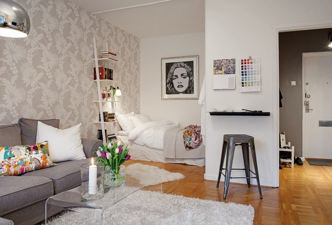 © usualhouse  Полноценная спальная комната, конечно, недля однокомнатных квартир, ноэто нез
