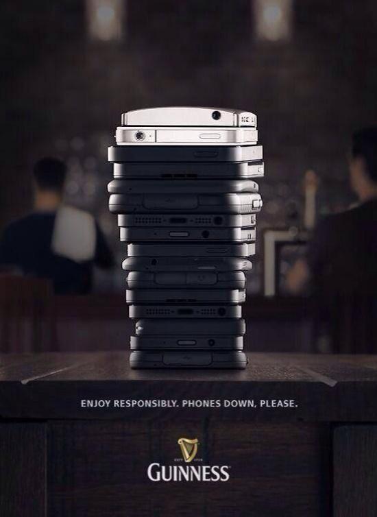 Телефоны настол. Пиво Guinness