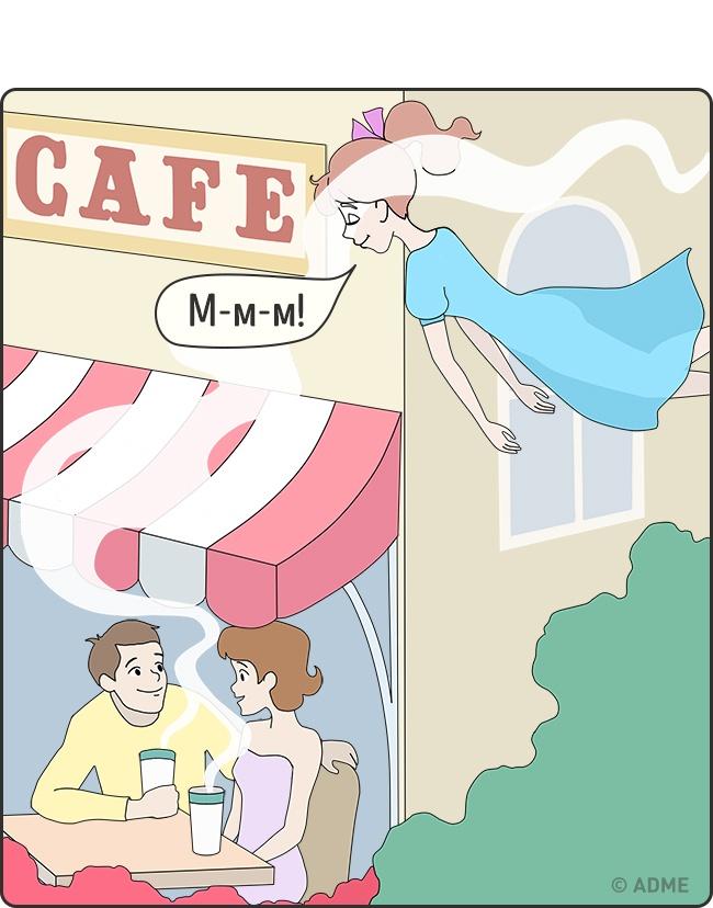 10 иллюстраций, посвященных ценителям кофе.  (11 фото)