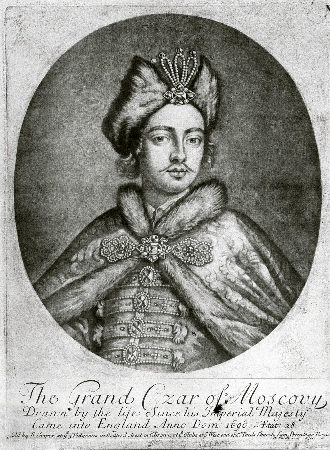 99. Портрет Петра I, гравированный Файторном