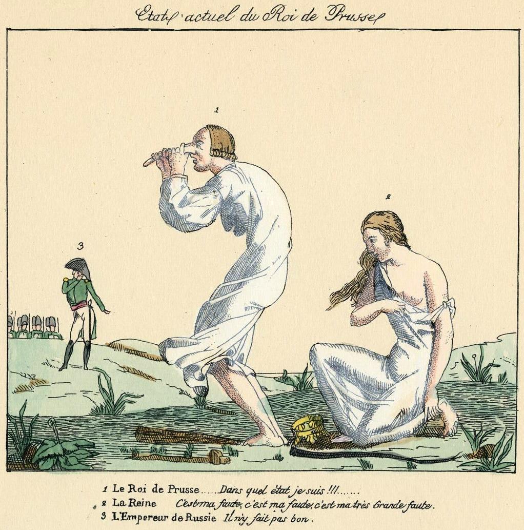153. Королева и Король Пруссии после разорения их королевства Наполеоном.