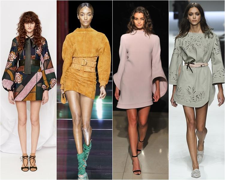 модный фасон платья 2016:короткие платья с длинным рукавом