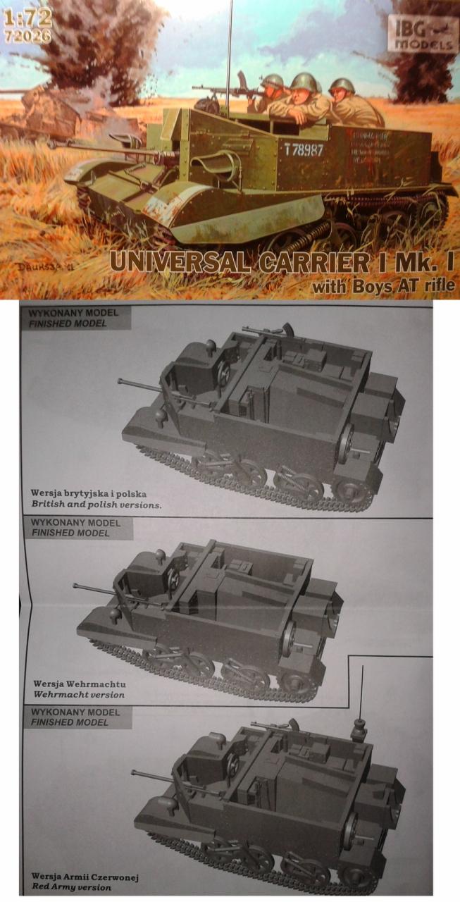 IBG Models №72026 - Universal Carrier I Mk.I