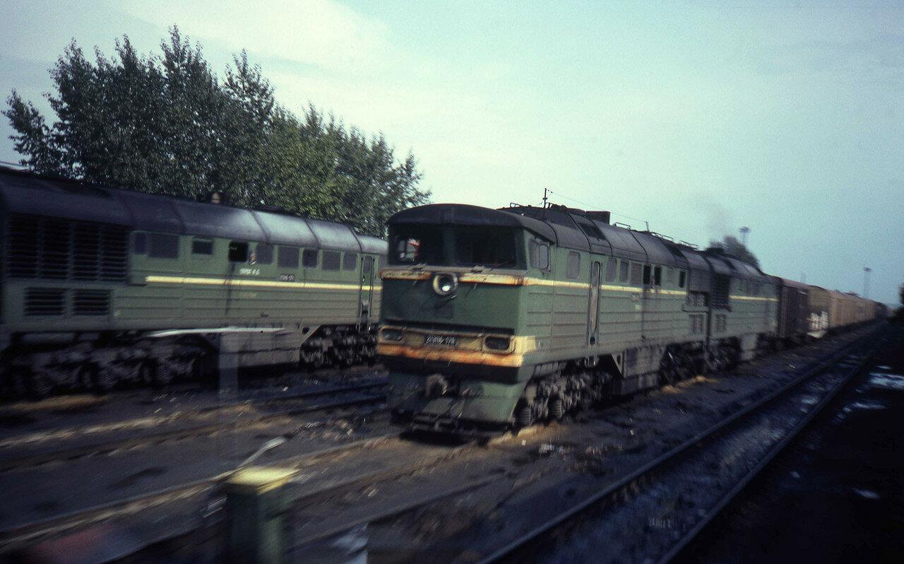 Тепловозы 2ТЭ116 на Транссибирской железной дороге между Войновкой и Называевском