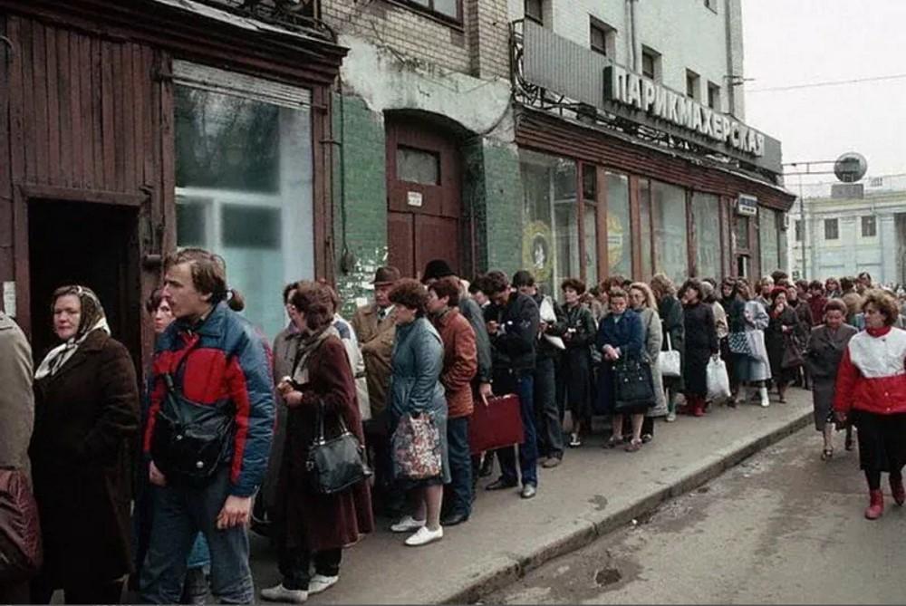 1987. Москва. Очередь