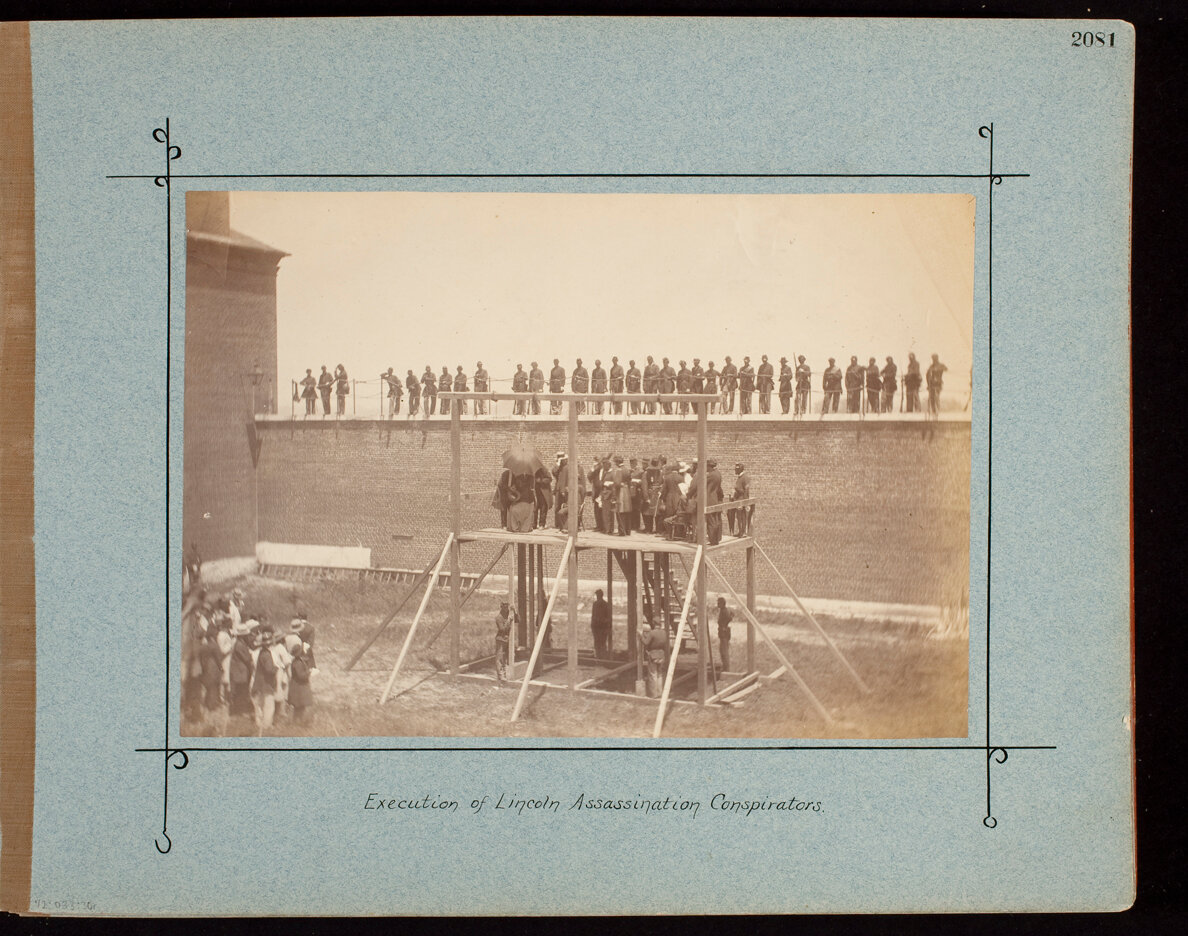 Execution of Lincoln Assassination Conspirators.