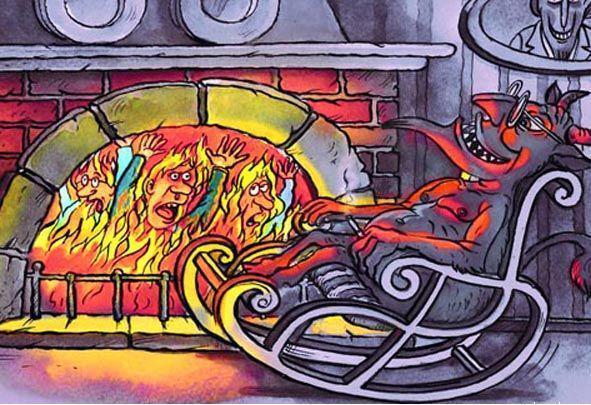 карикатура ад