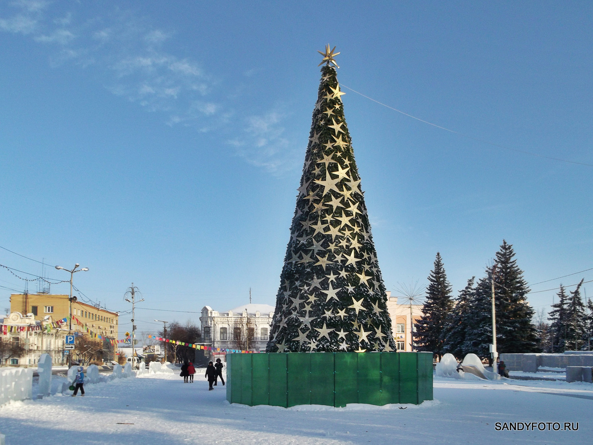 1 января 2016 на центральной площади Троицка