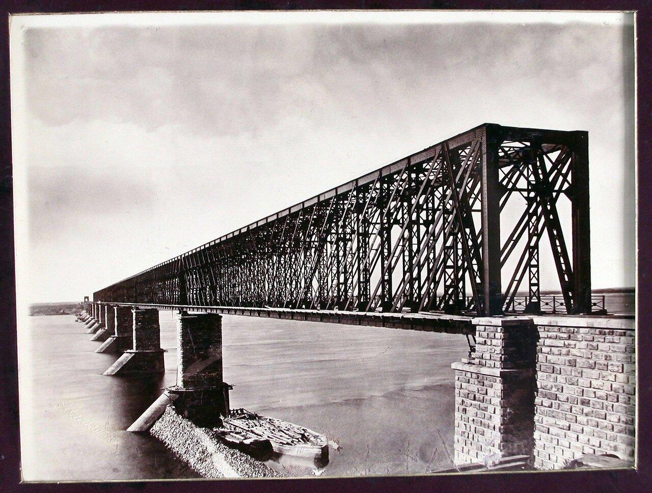 25. Вид моста через Волгу