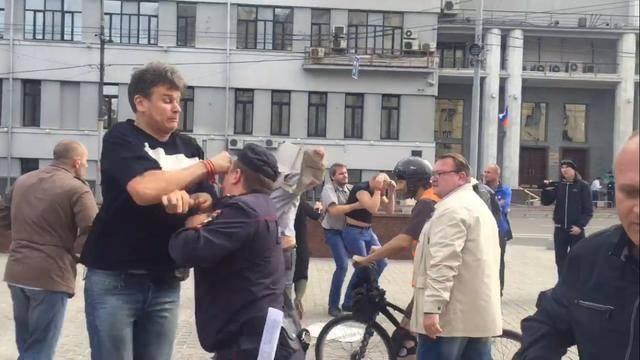 Провокаторы избили в Москве участников пикета против войны с Украиной, - российская активистка. ФОТО+ВИДЕО