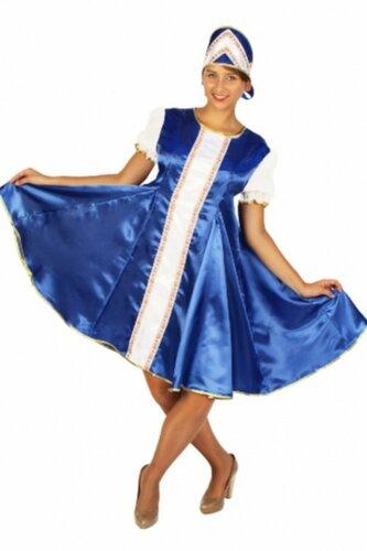 Женский карнавальный костюм Царевна синий