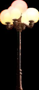 фонари на столбах