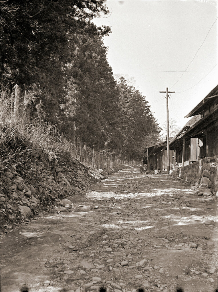 Dirt Road & Power Lines, 1930s Japan.