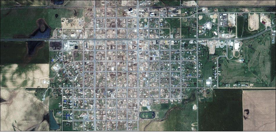 10. Гринсбург, Канзас. По городу прошел торнадо.