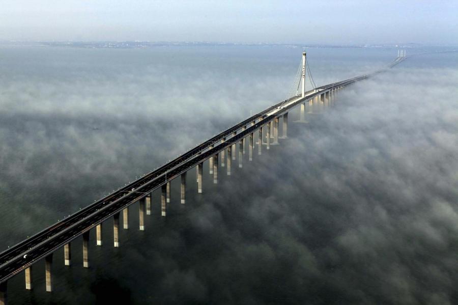 17. Мост Хуанчжоу Бэй, Китай