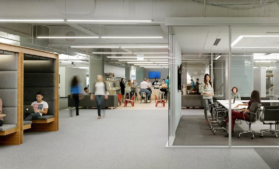 6. Американский офис Square Американский офис Square спроектирован как маленький город, где сотрудни