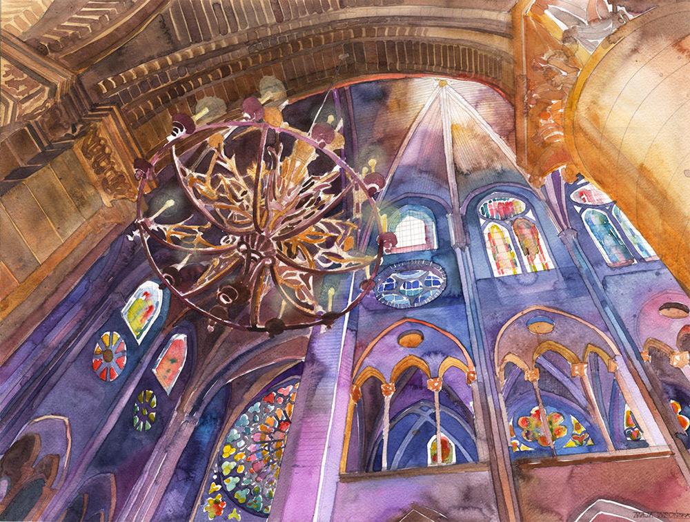 New Architectural Watercolors by Maja Wronska