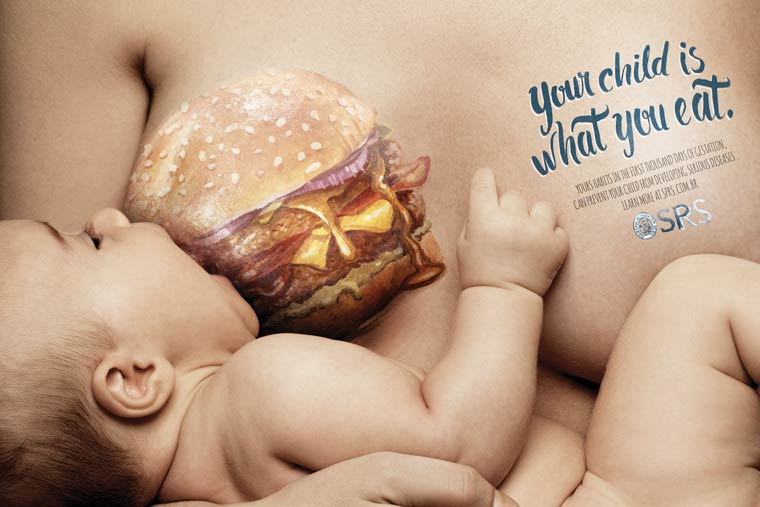 Pregnancy and Junk Food - An amazing awareness campaign