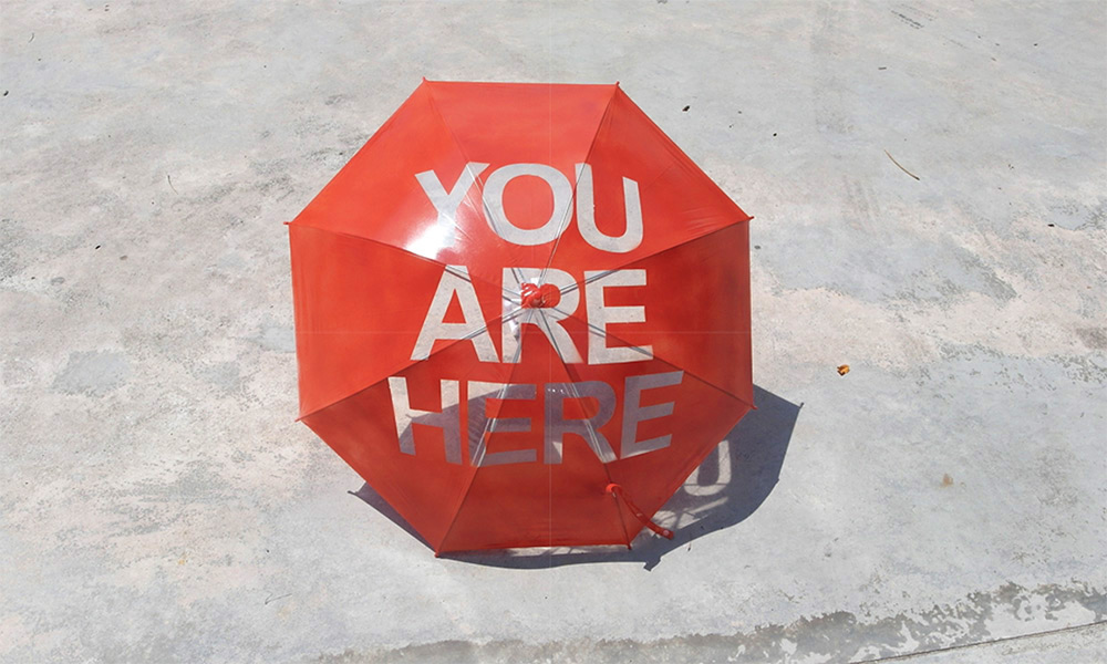 You Are Here Umbrella (3 pics)