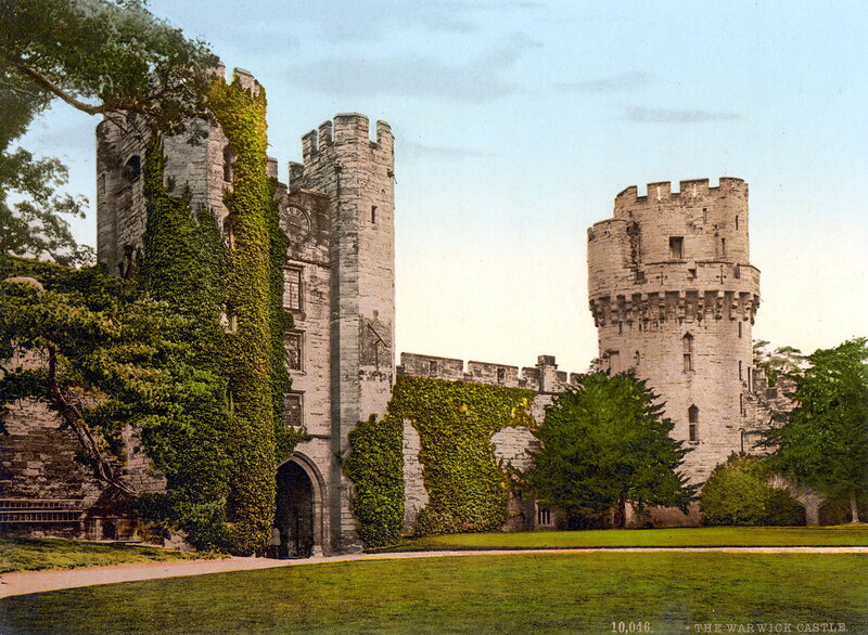 замок Уорвик, конец XIX века