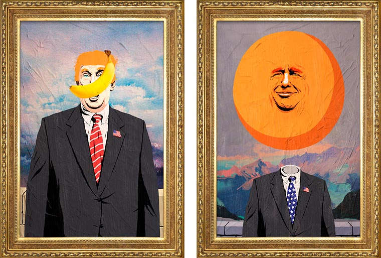 Trump X Magritte - A new series of mashups created by Butcher Billy