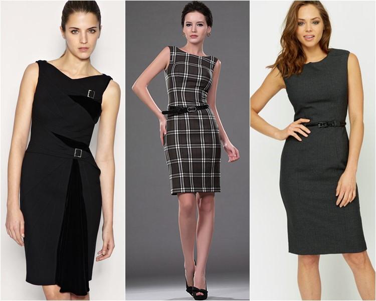 Офисные модели платьев 2017