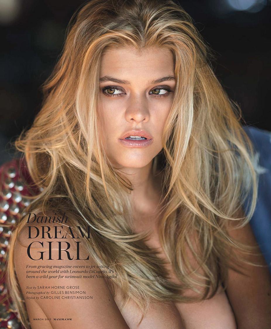 Nina Agdal / Нина Агдал в журнале Maxim US, март 2017 / фотограф Gilles Bensimon