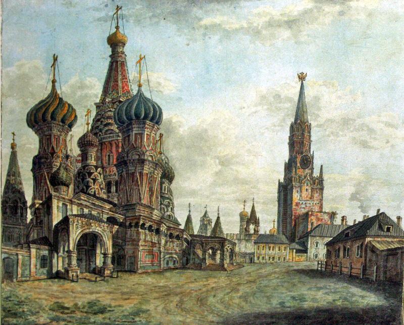 459387 Вид на собор Василия Блаженного, Спасскую башню и Кофейный дом.jpg