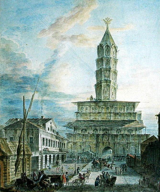 460714 Сухарева башня 1800-е Ф. Алексеев.jpg