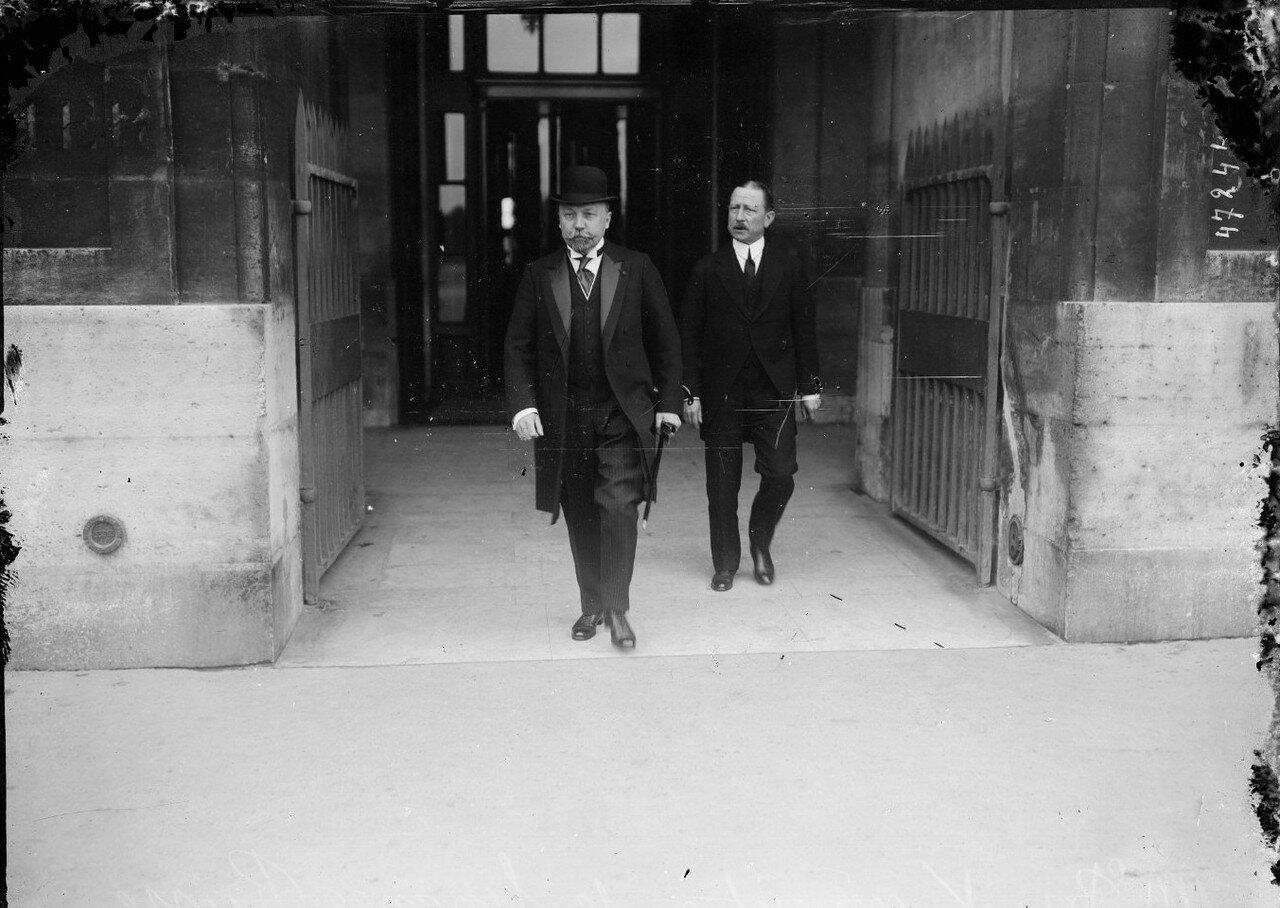 1915. Петр Львович Барк, министр финансов России прибыл на Северный вокзал