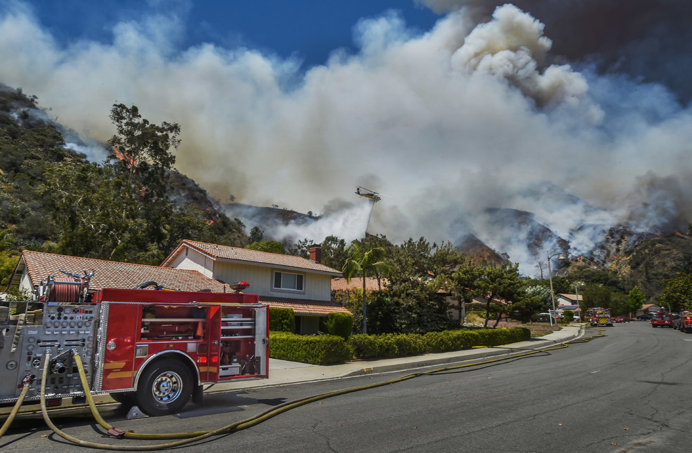 Сильные лесные пожары в США
