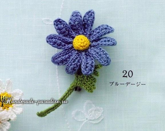 Букетики цветов. Вязаные крючком украшения (4)