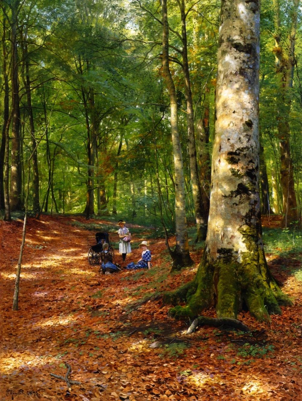 Петер Мёрк Мёнстед, известный художник-реалист изДании, чаще всего изображал насвоих картинах сель