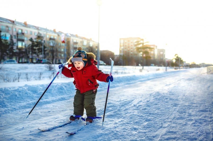 8. Время, чтобы впервые встать на лыжи