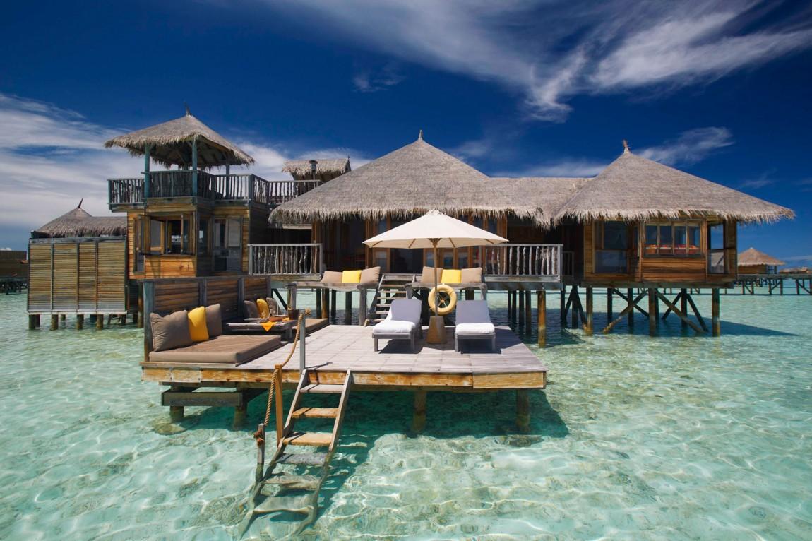 Райский уголок Gili Lankanfushi на Мальдивах. Этот пяти звездочный курортный отель расположен на час