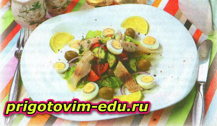Рыбный салат к старому Новому году