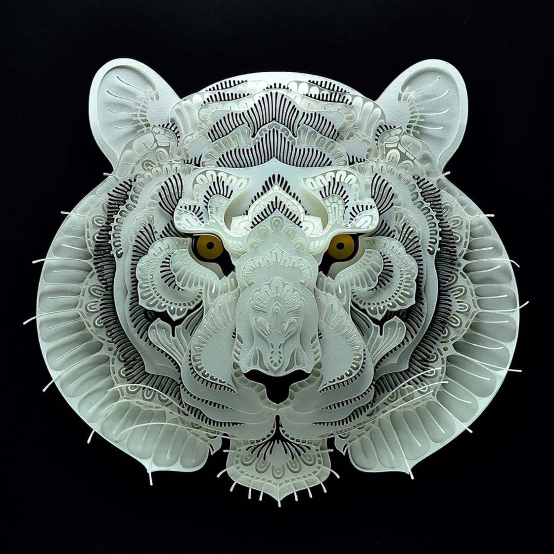 Endangered Species - Delicate paper cuts for a good cause