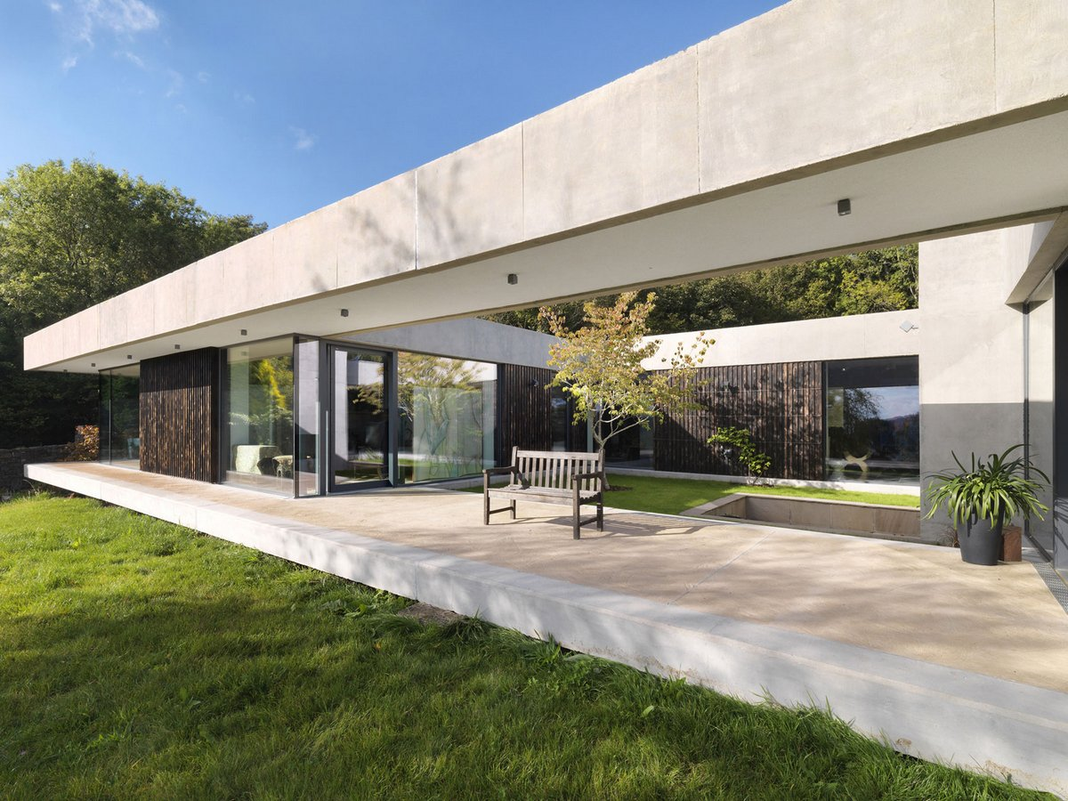 Одноэтажный дом открытой планировки