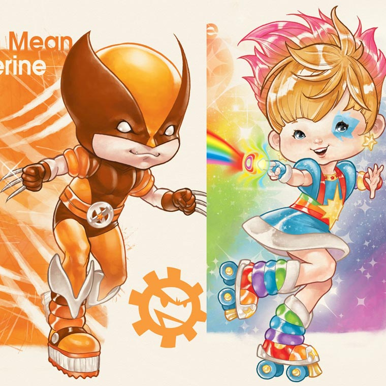 Rainbow Heroes - The X-Men meet the colorful world of Rainbow Brite