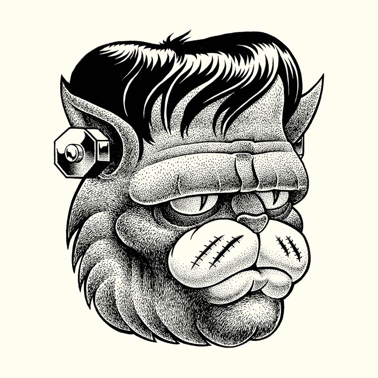 The Bullshitters - Les superbes illustrations monochromes de SHANE